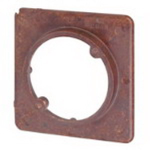Union 4043 1-Device Raised 1-Gang Square Plaster Ring; Phenolic, Brown, 4-1/4 Inch Width x 1/2 Inch Depth x 4-1/4 Inch Height, 4.5 Cubic-Inch