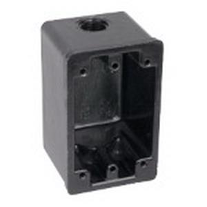 Union FSC-12 1-Gang Weatherproof Device Box; 2-9/16 Inch Depth, Phenolic, 16 Cubic-Inch, Black