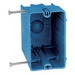 Union RN-21-FS 1-Gang Outlet Box; 3-3/8 Inch Depth, PVC, 20.5 Cubic-Inch, Blue