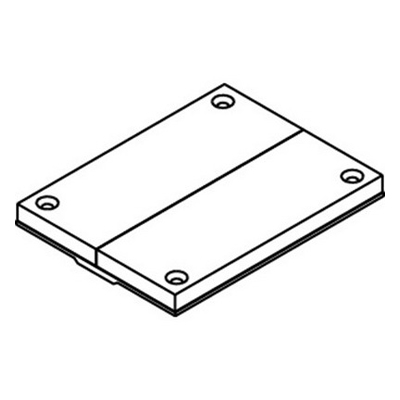 Wiremold / Walker 829PCK-BRN Poly Data Breakout Communication Cover Plate; Non-Metallic, Brown