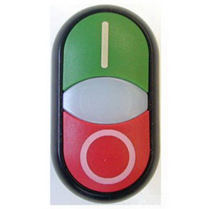 Eaton / Cutler HammerM22-DDLF-GR Cutler Hammer Heavy Duty Oiltight Illuminated Pushbutton and Center Light; Momentary, Flush Actuator, Silver Bezel, Green Top, Red Bottom
