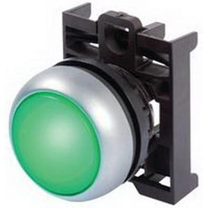 Eaton / Cutler HammerM22S-DL-G-K10-G Cutler Hammer 2-Position Multi-Function Illuminated Pushbutton; 12 - 30 Volt AC/DC, Momentary, NO, Flush Actuator, Black Bezel, Green Button