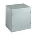 Wiegmann SC040404NK SC Series Electrical Enclosure; 4 Inch Depth, 16 Gauge Steel, ANSI 61 Gray, Wall Mount, Screwed Cover
