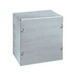 Wiegmann SC080804G SC Series Electrical Enclosure; 16 Gauge Galvanized Steel, Unpainted, Wall Mount, Screwed Cover
