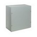 Wiegmann SC181808NK SC Series Electrical Enclosure; 8.1875 Inch Depth, 16 Gauge Steel, ANSI 61 Gray, Wall Mount, Screwed Cover