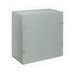 Wiegmann SC121208NK SC Series Electrical Enclosure; 8.1875 Inch Depth, 16 Gauge Steel, ANSI 61 Gray, Wall Mount, Screwed Cover