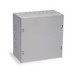 Wiegmann SC101004 SC Series Electrical Enclosure; 16 Gauge Steel, ANSI 61 Gray, Wall Mount, Screwed Cover