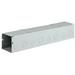 Wiegmann S8824NK Wireway; 24 Inch x 8 Inch x 8 Inch, 14 Gauge Steel, ANSI 61 Gray