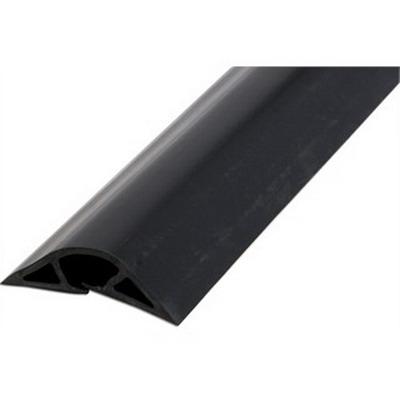 Wiremold / Walker BK1600-5 Flex® Pancake® Non-Metallic Overfloor Raceway; 5 ft Length, Black