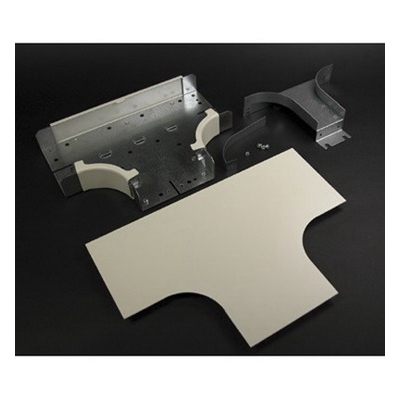 Wiremold / Walker G4015DFO Radiused Full Capacity Divided Tee Fitting; Steel, Gray