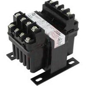 Hammond PH75MQMJ Control Transformer; 220/230/240/440/460/480 Volt Primary, 110/115/120/220/230/240 Volt Secondary, 75 VA, Integrally Molded Terminal Block Connection