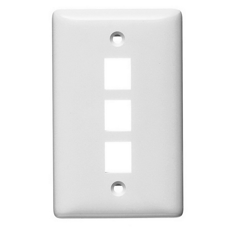 Hubbell Wiring NSP13W Netselect® Standard Size 1-Gang Multimedia Face Plate Without Label; Flush/Screw Mount, High Impact-Resistant Thermoplastic, White