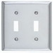 Hubbell Wiring SSJ2 Jumbo 2-Gang Combination Wallplate; Screw Mount, 302/304 Stainless Steel