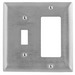 Hubbell Wiring SS126L Homeselect™ 2-Gang Combination Wallplate; Box Mount, 430 Stainless Steel