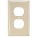 Hubbell Wiring NP83W Homeselect™ 3-Gang Duplex Receptacle Wallplate; Nylon, White, Screw Mount