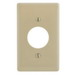Hubbell Wiring NPJ7I Homeselect™ 1-Gang Single Receptacle Wallplate; Nylon, Ivory, Screw Mount