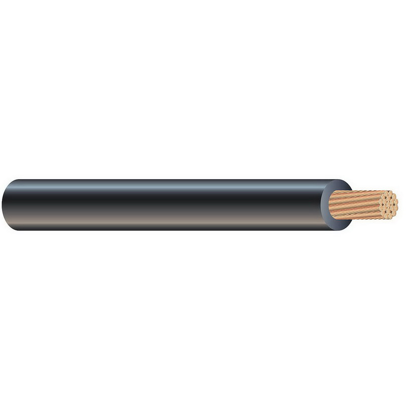 Copper Building Wire XHHW Cable; 600 MCM, 61 Stranded, Copper Conductor, Black, Reel/Coil
