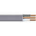 Copper Building Wire UF-NMCB Cable With Grounding; 12/2 AWG, 1 Stranded, Copper Conductor, Gray, 250 ft Coil