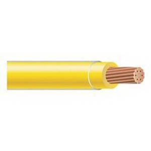 Copper Building Wire TFFN Building Wire; 18 AWG, 16 Stranded, Copper Conductor, Yellow, 500 ft Spool/Reel