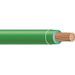 Copper Building Wire XHHW Cable; 1/0 AWG, 19 Stranded, Copper Conductor, Green, 1000 ft Reel