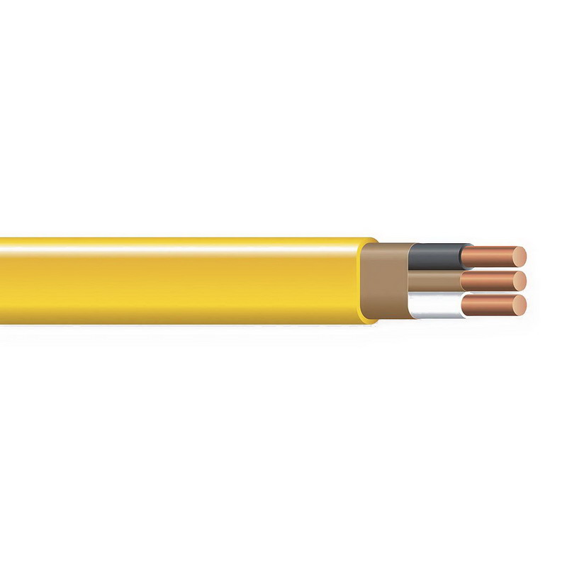 Copper Building Wire NM Sheathed Cable With Grounding; 8/3 AWG, Copper Conductor