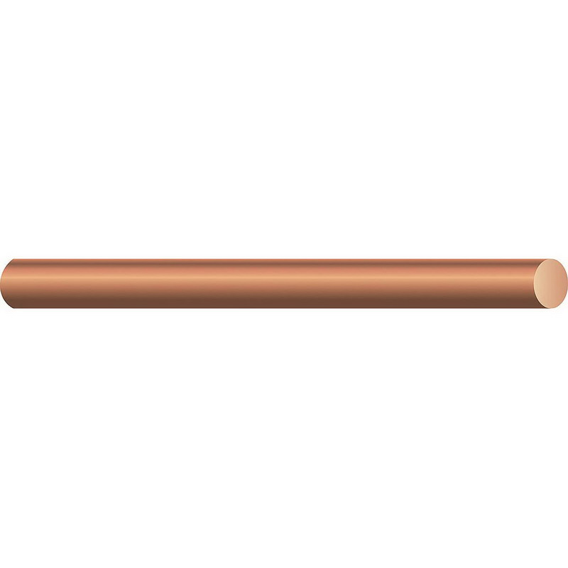 Copper Building Wire Bare Cable; 2 AWG, Solid, Soft Drawn Bare Copper Conductor, 500 ft Reel