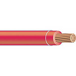 Copper Building Wire THHN Cable; 250 MCM, 37 Stranded, Copper Conductor, Red, 1000 ft Reel