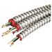 Copper Building Wire Aluminum Armored MC Cable With Grounding; 12/2 AWG, Stranded, 250 ft Coil
