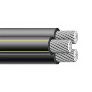 Aluminum Building Wire XHHW Cable; 4/0 AWG, Stranded, Aluminum Conductor, Black, 500 ft Reel