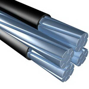 Aluminum Building Wire Periwinkle ACSR Service Drop Cable; 4/3 AWG, Aluminum Conductor, 1000 ft