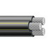 Aluminum Building Wire XHHW Cable; 350 MCM, Stranded, Aluminum Conductor, Black, 3500 ft Reel