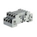 Idec SY4S-05 SY Series Relay Socket; 7 Amp, 300 Volt, 4-Pole, DIN Rail Snap/Surface Mount