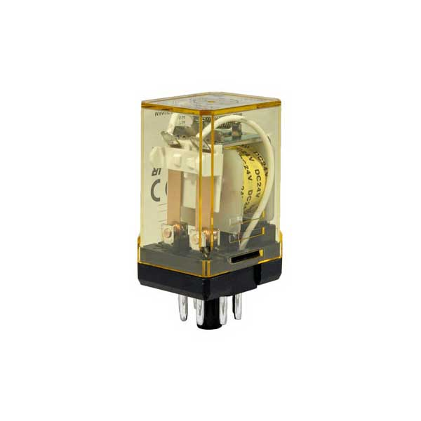 Idec RR2P-ULAC24V RR Series General Purpose Power Relay With Indicator; 2 Pole, Round Pin Plug-In Mount