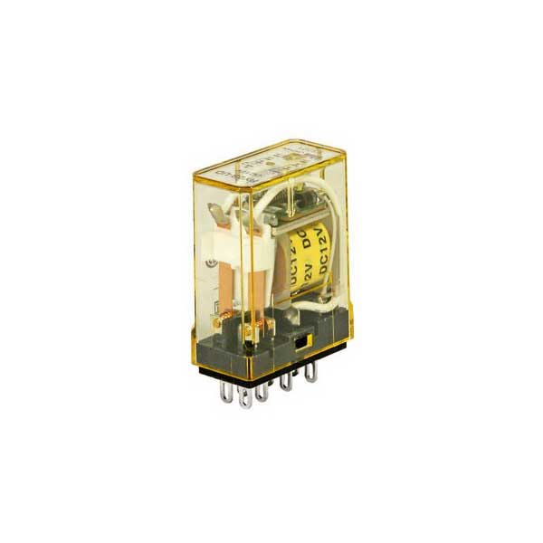 Idec RY2S-UL-DC24V RY Series General Purpose Miniature Relay With Indicator; 32 Amp, 2 Pole, Blade Plug-In Mount
