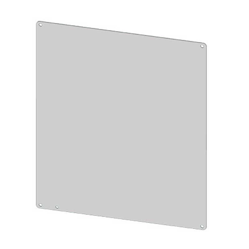 Saginaw Control and Engineering SCE-12P12 Flat Subpanel; Carbon Steel, White Powder-Coated