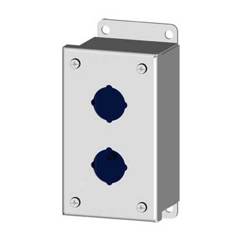 Saginaw Control and Engineering SCE-2PB Pushbutton Enclosure; Carbon Steel, ANSI 61 Gray