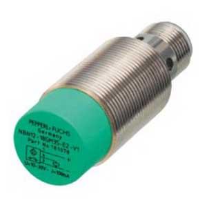 Pepperl & Fuchs NBN12-18GM35-E2-V1 Inductive Proximity Sensor; 10 - 30 Volt, 12 mm Sensing Distance, PNP, DC Output, NO Operating Mode