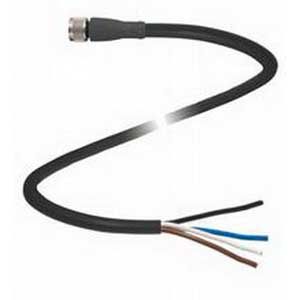 Pepperl & Fuchs V31-GM-BK5M-PVC-U 4-Pin Straight Female Cordset; 5 m Cable, PVC Cable, Black