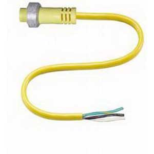 Pepperl & Fuchs V93-G-YE2M-STOOW 3-Pin Straight STOOW Female Cordset; 2 m Cable, PVC Cable, Yellow