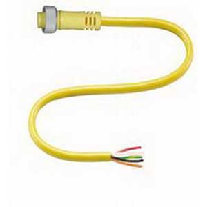 Pepperl & Fuchs V95-G-YE2M-STOOW 5-Pin Straight STOOW Female Cordset; 2 m Cable, PVC Cable, Yellow