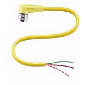 Pepperl & Fuchs V12-W-YE5M-PVC 3-Pin Right Angle Connecting Cable; PVC, Yellow
