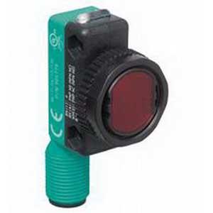 Pepperl & Fuchs ML17-8-H-50RT/73/136 Background Suppression Photoelectric Sensor; 10 - 30 Volt DC, 10 - 50 mm Sensing Range, 2 Push-Pull Output