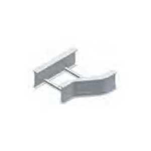 Cablofil LD-6A-RR12-06 Right Hand Ladder Rung Offset Horizontal Reducer; Aluminum, Red