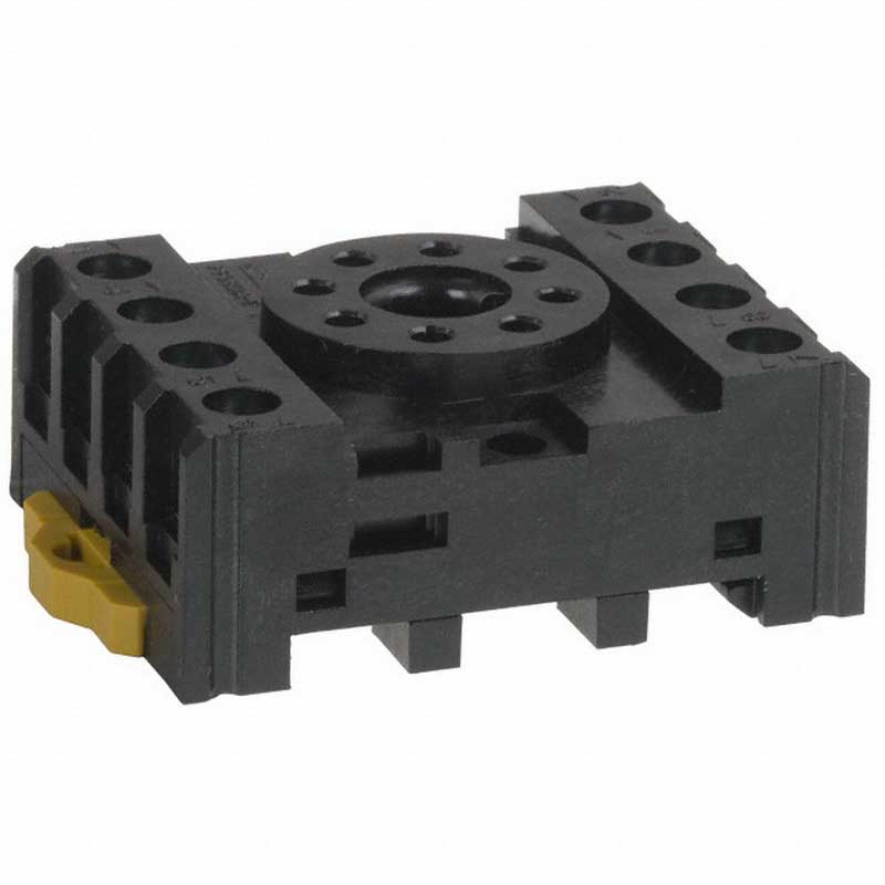 Omron PF083AE Relay Socket; Track Mount