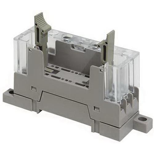 Omron 11059-0012 P7SA-10F Relay Socket; 4-Pole, DIN Rail Mount