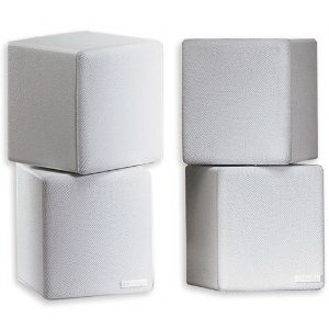 Music and Sound MNCX Dual 3 Inch Mini-Cube Speaker; White