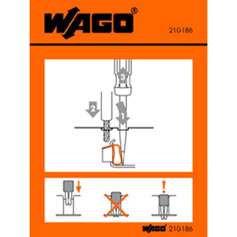 Wago 210-186 Sticker; For 279 To 285 Series Terminal Blocks