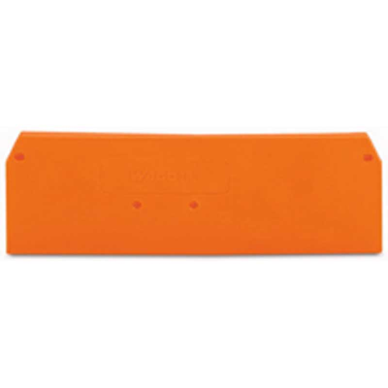 Wago 280-315 End and Intermediate Plate; Orange
