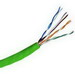 Hitachi 38696-8-GR2 Category 5e Riser Cable; 300 Volt, 4-Pair, 24 AWG, Bare Copper, Thermoplastic Jacket, 0.170 Inch Dia, Green