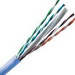 Hitachi 30025-8-BL2 Plus™ Category 6 Plenum Cable; 300 Volt, 4-Pair, 23 AWG, Bare Copper, Low-Smoke, Thermoplastic Jacket, 0.200 Inch Dia, Blue, 1000 ft Pull Box